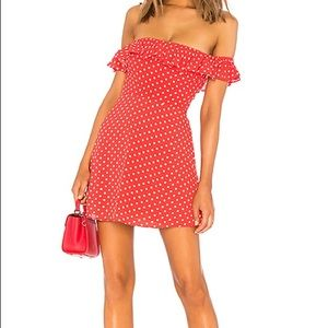 Privacy Please Ellen Mini Dress in Rust Dot size S